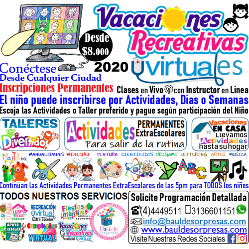 VACACIONES RECREATIVAS VIRTUALES